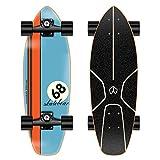 VOMI Cruiser Skateboard Retro Skate 30'X 8' Komplettes Board Ahorn Holz Boards Longboard für Kinder Anfänger Teenager Jungen Mädchen, Unisex Erwachsene Komplettboards,C