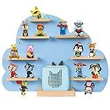 ZOEON Kinder Regal kompatibel mit Toniebox und kompatibel mit Tonies für über 30 Figuren - Wandregal für die Musikbox - zum Spielen und Sammeln - für Kinder Baby Zimmer (Blau)