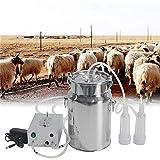 InLoveArts Elektrische Melkmaschine, tragbare 7-Liter-Vakuummilchmaschine Schaf-Ziegenmilch-Milchpumpe mit Milchfass, Milchkannenbürste, 2 m Ersatzmilchrohr, Ersatzgummiring, Ersatzmilchfutter