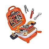 Cyhamse 22-teiliges Kinderwerkzeug Set Werkzeugkoffer Kinder Werkzeug Werkzeugkasten Für Handwerker Mit Aufbewahrungskoffer Tasche Kinder Spielset Spielwerkzeug