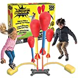 Stomp Rocket Dueling 4 Rockets & Rocket Launcher Outdoor rocket toy for boys & girls ages 6+