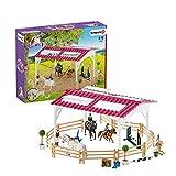 Schleich 42389 Horse Club Spielset - Reitschule mit Reiterinnen und Pferden, Spielzeug ab 5 Jahren,10.8 x 40 x 31.5 cm