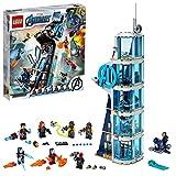 LEGO 76166 Marvel Avengers – Kräftemessen am Turm, Bauset mit Iron Man, Black Widow & Red Skull