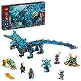 LEGO 71754 NINJAGO Wasserdrache Drachen Spielzeug für Kinder ab 9 Jahre, Set mit 5 Ninja Mini Figuren
