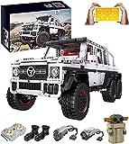 ReallyPow Technik Off-Road Geländewagen LKW für Mercedes-Benz G63, Fernbedienung + App-Gesteuertes, Mould King 13061, Rennwagen SUV Auto Kompatible mit Lego Technic - 3686 Teile