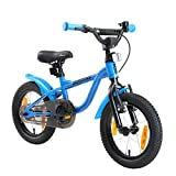 LÖWENRAD Kinderfahrrad für Jungen und Mädchen ab 3-4 Jahre | 14 Zoll Kinderrad mit Bremse | Fahrrad für Kinder | Blau