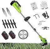 PJLHHM Akku Garten-Rasentrimmer Akku Tragbarer Hand-Rasentrimmer 3 in 1 Teleskop-Schnurschere Elektrischer Rasenkantenschneider Werkzeug (Green)
