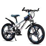YJTGZ Fahrräder Kinder-Mountainbike Outdoor-Kinder-Reiserad Outdoor-Mountainbike Geeignet Sommersportrad Schülerfahrrad (Geschwindigkeit Einstellbar) (Color : Weiß, Size : 20inch)