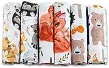 Mullwindeln - Mulltücher - 6er Pack 70x80 cm - Stoffwindeln, Made IN EU, schadstoffgeprüft -Spucktücher Baby für Jungen und Mädchen– Baby Mullwindeln