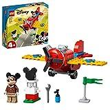 LEGO 10772 Mickey and Friends Mickys Propellerflugzeug, Micky Maus Flugzeug Spielzeug zum Bauen für Kleinkinder ab 4 Jahre