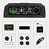 AUTOOL X91 Auto Hud 3 in 1 TPMS, GPS Smart Auto Head Up Display Auto-Neigungsmesser Digitales Messgerät für 12-V-Fahrzeuge