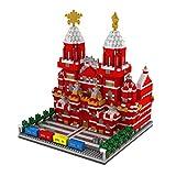 VPPI Modular Haus Bausteine, Bausteine Architektur Modell Roter Platz in Moskau, Berühmte Architektur 3D Modell Spielzeug, Architektur Konstruktionsspielzeug Kompatibel mit Lego Haus