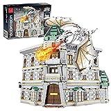 LesDiy Straßenansicht Klemmbausteine Bausatz, Straßenansicht Winkelgasse Bank Kompatibel mit Lego Harry Potter - 4185 Teile