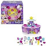 Polly Pocket GYW06 - Geburtstags Countdown, Spielset in Form einer Geburtstagstorte mit Tortenschachtel, 7Spielbereiche, 25Überraschungen, ab 4 Jahren