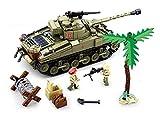 Sluban SL95583, WWII - Schlacht um Tobruk (790 Teile) [B0713], Spielset , Klemmbausteine, Soldaten, mit Spielfigur, Army WWII