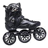 3 Räder Erwachsene Inline-Skates, Outdoor-Fitness-Skates für Herren, professionelle Eisschnelllauf-Schuhe, Geschenk-Rollschuhe für Erwachsene(Size:40)