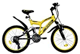 T&Y Trade 20 Zoll MÄDCHEN Kinder Jungen MTB Mountainbike Fahrrad KINDERFAHRRAD Bike Rad Kinderrad Fully VOLLGEFEDERT 15 Gang 2700 GELB