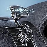 Handyhalterung Auto Magnet, Upgraded Haken Clamp Handyhalter Auto Zubehör Lüftung KFZ Handy Halterung 360° Drehbar mit 6 Starke Magnet 2 Metallplatte, Kompatibel mit Allen Handys