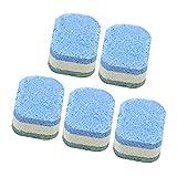 Ruluti 5 Stücke Wc-Reiniger Automatische Bleichmittel Toilettenschüssel Tankreiniger Blaue Tabletten Flush Cleaner 920y35