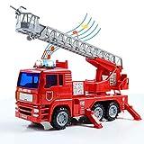 jerryvon Feuerwehrauto Feuerwehr Spielzeug mit Wasserspritze Sirene und licht Auto Kinder spielzeugauto groß Rollenspiel kinderspielzeug kinderspiele Spielzeug ab 3 4 5 6 Jahren Jungen