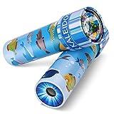 iKeelo Klassisches Kaleidoskope aus Zinn, 2er Pack Kaleidoskop Kinder Lernspielzeug mit Metallgehäuse, Geburtstagsgeschenk für Jungen und Mädchen (Unterwasserwelt -2 Stück)