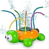 Wassersprinkler Spielzeug für Kinder, Wasserspielzeug Garten Spielzeug, Sprinkler Kinder Spielzeug, Kinder Sommer Wassersprühsprinkler mit Schildkröt für Hinterhof, Rasen, Spielen im Freien, Garten