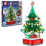 Weihnachts Series Modell Bausteine, Weihnachtsbaum Modell mit Licht und Musik, Drehbar Weihnachtsbaum Bausatz, brExklusives Sammlerstück, Kompatibel mit Lego(486 Teile) 11 * 11 * 28