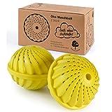 ProfessionalTree Waschball für Waschmaschine - 2 Stück – Waschkugel für Waschmaschine mit Keramikperlen - Waschen ohne Waschmittel – Gelb Eco Waschball ohne Duft