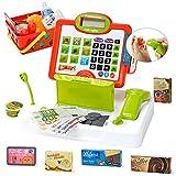Lekebaby Spielzeug Kasse, Kaufladen Kasse mit Echtem Taschenrechner & Scanner, Spiel Kasse für Jungen und Mädchen