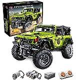 RcBrick Technik Jeep Wrangler Technic Ferngesteuert Auto, 2343 Teile Technik Geländewagen mit 4 Motor, Fernbedienung und App Kontroller Bauset Kompatibel mit Lego Technik