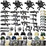 LICI Militär Waffen Set, 54 Teile Modern WW2 Militär Armee Waffen Mittelalterliche Ritterhelm Rüstungs Sätze Kompatibel Mit Lego Minifiguren