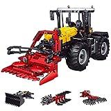 12che Technik Traktor 2596St 4 In 1 2.4G RC Traktor Bausteine Spielzeug Fernbedienung Technik Traktor kompatibel mit Lego