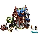 JDJFDKSFH Lego-Ideen mittelalterlich Blacksmith Building Kit; Beeindruckender Erwachsener BAU- und Anzeigemodelle