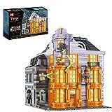 BAXT Architektur ModellBausatz, 4 Schichten Magische Welt Witzeladen Modell mit Licht Modular Haus Bausteine, Mould King 16041, 3363+ Klemmbausteine Kompatibel mit Lego Creator