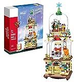 KCGNBQING Weihnachtsgebäude Set 1039 Stück Weihnachtsmann mit Haus Modell Ziegelstein Set Weihnachtsziegelsteingeschenk Kompatibel mit Lego Creator Zusammenbau von Lego-Bausteinen