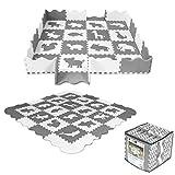 Sapphire Kids Spielmatte 52-TLG Puzzle Puzzlematte Spielteppich Kinderteppich Schutzmatte Kinderspielteppich Schaumstoffmatte Unterlegmatte Boden Schutz SK-26