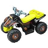HOMCOM Quad ATV Kinderauto Kinderwagen Elektroauto Kinderfahrzeug Kindermotorrad Elektroquad Kinderquad Elektromotorrad für 3-jährige Kinder Gelb
