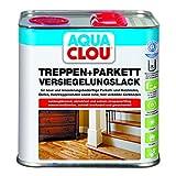 Aqua Clou Treppen- und Parkett Versiegelungslack 2,5L: Anwendung auf neuen Holzböden und im Rahmen der Renovierung für Dielen, Holz-Treppenstufen sowie Korkböden