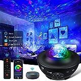 LED Projektor Sternenhimmel Lampe,WIFI Sternenhimmel Projektor mit Bluetooth Musik lautsprecher und remote steuerung,Unterstützung mit SmartAPP AlexaGoogle Home,für Zuhause,Party,Weihnachten,Halloween