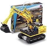 Technik Bausteine Bagger Mit Power-Funktion, Technic Raupenbagger, Konstruktionsspielzeug Kompatibel mit Lego Technic(544 Teilen) dynamic