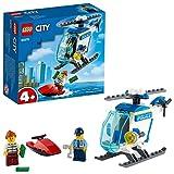 LEGO 60275 City Polizeihubschrauber, Hubschrauber Spielzeug für Jungen und Mädchen ab 4 Jahren mit Minifiguren von Polizisten und Ganovin