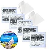 30 Stück Reparatur Patch Tape Transparent Reparatur Flicken Selbstklebender Folie Set für Swimming Pool Planschbecken Schwimmbad Familienpool Zelte Schwimmring Luftbett Schlauchboot