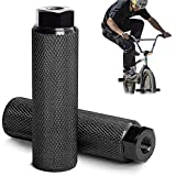 Universal Bike Pegs,Rutschfeste Fahrrad Peg für Mountainbikes,Aluminiumlegierung Bike Foot Pegs Kids Adult,BMX-Fußpedal/Peg aus Aluminiumlegierung,rutschfest,100 kg Traglast (black)