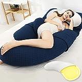 XJZM Schwangerschaftskissen, Schwangerschaftskissen zum Schlafen, abnehmbares Schwangerschaftskissen, G-förmiges Körperkissen, hohe Stretch-Baumwolle, für Schwangere