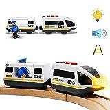 Batteriebetriebener Lokomotivzug (Magnetanschluss) - Leistungsstarker Motor-Hochgeschwindigkeitszug für Thomas Chuggington Holzzug und Gleis - Spielzeugauto für Kleinkinder