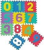 Gutsbox 10 Stücke Puzzlematte Kinderspielteppich Spielmatte Spielteppich Schaumstoffmatte Kinderteppich, Puzzle Zahlen und Buchstaben, Maß je Matte ca. 30 x 30cm