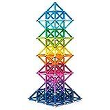 BANBBY 145 Stück Magnetische Bausteine Set Spielzeug MagnetSpiel für Kinder Upgraded 33mm Stäbe (10 Farben)
