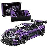 Amitas Technik Rennwagen Klemmbausteine Bauset, Technik Sportwagen Modellbausatz für Aston Martin GT3 Kompatibel mit Lego Technik - 3850 Teile