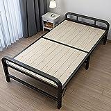 XIAOHUA Klappbett, Einzel- und Doppel 1.2m Hauptmiete Zimmer, Wirtschaft kleines Bett, einfacher Eisenrahmen, Bambusbett, Festplatte Bett