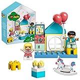 LEGO 10925 DUPLO Spielzimmer-Spielbox für Kleinkinder ab 2 Jahren, große Bausteine, Lernspielzeug